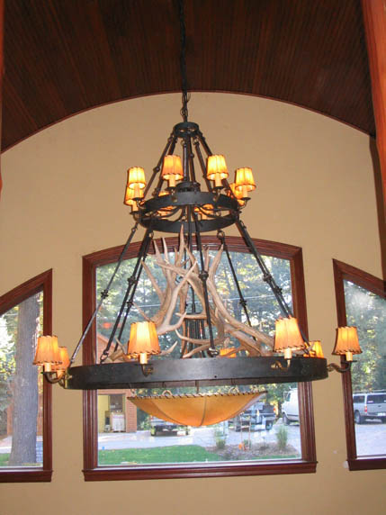 Custom wrought iron chandeliers chicken coop forge blacksmiths custom wrought iron chandeliers chicken coop forge blacksmiths design rustic lighting mozeypictures Image collections